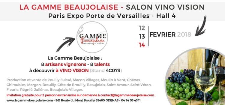 Invitation salon Vino Vision pour la Gamme Beaujolaise